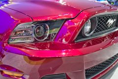 Ford Mustang Front Grill and Lights Royalty Free Stock Images