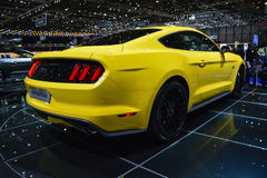2015 Ford Mustang at the Geneva Motor Show Royalty Free Stock Images