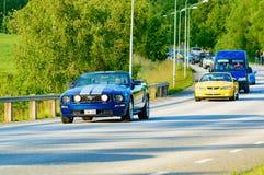 Ford Mustang gt蓝色2006年 免版税库存图片