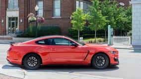 2016年Ford Mustang GT 350,伍德沃德梦想巡航, MI 图库摄影