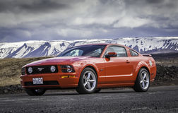 2006 Ford Mustang GT. At drag racing event in Iceland on April 30 2016 Royalty Free Stock Photography