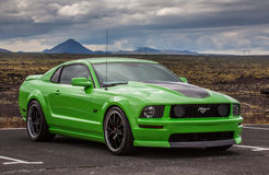 2006 Ford Mustang GT. Image of a 2006 Ford Mustang GT at a drag racing event in Iceland Stock Photography