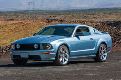 Ford Mustang GT. Image of a 2007 Ford Mustang GT at a drag racing event in Iceland stock images