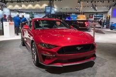 Ford Mustang GT op vertoning tijdens La Auto toont Royalty-vrije Stock Afbeeldingen