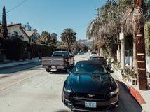 Ford Mustang GT parcheggiato sul boulevard di Hollywood Fotografie Stock
