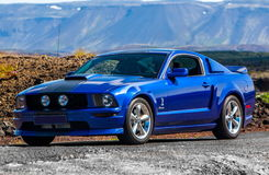 Ford Mustang GT. Photo of a 2005 Ford Mustang GT at drag racing event in Iceland 2013 stock photo
