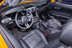 2018: Ford Mustang Interior, NAIAS fotografie stock