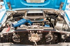 1970年Ford Mustang Mach1引擎图 图库摄影