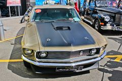 Kyiv, Ukraine, April 4, 2015. Ford Mustang Mach 1 1969. Muscle car. Ford Mustang Mach 1 1969. Muscle car stock images