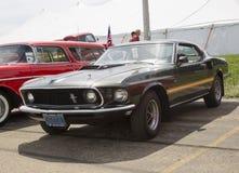 1969 Ford Mustang Mach 1 zijaanzicht Royalty-vrije Stock Afbeelding