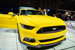 Ford Mustang, Motor Show Geneve 2015. Ford Mustang at the 85th International Geneva Motor Show in Palexpo, Switzerland Royalty Free Stock Photography