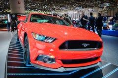 Ford mustang, Motorowy przedstawienie Geneve 2015 Zdjęcie Royalty Free