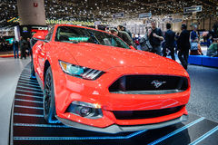 Ford Mustang, Motorshow Geneve 2015 Royalty-vrije Stock Foto