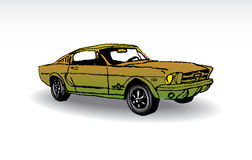 Ford mustang 1965. Oldtimer - ford mustang 1965 - illustration Stock Photo