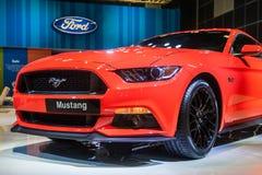 Ford mustang przy Singapur Motorshow 2015 Zdjęcia Royalty Free