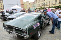 Ford Mustang Race Royalty-vrije Stock Foto's