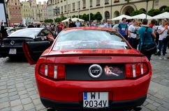 Ford Mustang Race Stock Photo