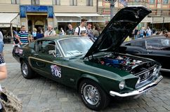 Ford Mustang Race Royalty Free Stock Photos