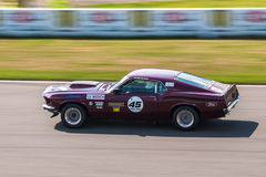 Ford Mustang-raceauto Stock Afbeelding