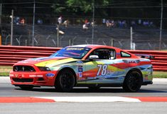 Ford Mustang racing Royalty Free Stock Photo
