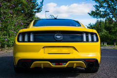 2017 Ford Mustang Rear - Triple Yellow royalty free stock images