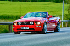 Ford mustang 2005 red Stock Photography