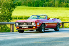 Ford mustang red 1972 Stock Photos