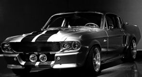 1967 Ford Mustang Shelby GT 500 stock afbeelding