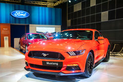 Ford Mustang in Singapore Motorshow 2015 Stock Afbeelding