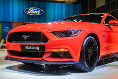 Ford Mustang at the Singapore Motorshow 2015 Royalty Free Stock Photos