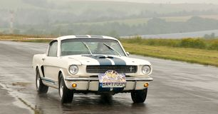 Ford Mustang - speed test Royalty Free Stock Images
