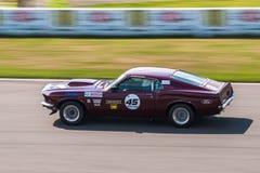 Ford Mustang tävlings- bil Fotografering för Bildbyråer