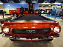 Ford Mustang turned into a Pool table on display Royalty Free Stock Photography