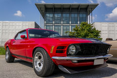 Ford mustang. At usa car meeting in Italy royalty free stock image
