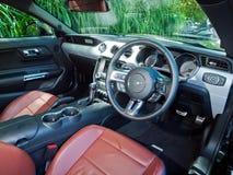 Ford Mustang 5 0 V8 2016 Binnenland Royalty-vrije Stock Fotografie
