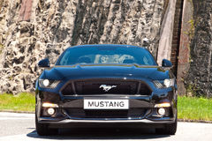 Ford Mustang 5 0 V8 2016 de Dag van de Testaandrijving Royalty-vrije Stock Foto's