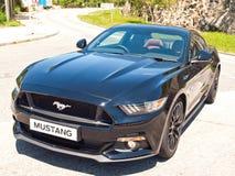 Ford Mustang 5 0 V8 2016 de Dag van de Testaandrijving Royalty-vrije Stock Afbeeldingen