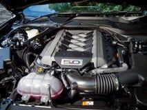 Ford Mustang 5 0 V8 2016 Motor Royalty-vrije Stock Fotografie