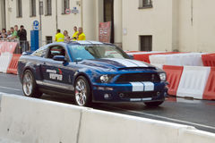 Ford Mustang at Verva Street Racing 2011 Royalty Free Stock Photo