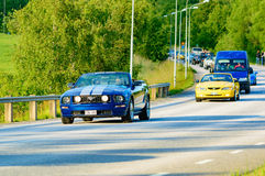 Ford mustanga gt błękit 2006 Obraz Royalty Free