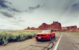 Ford mustangcabriolet Royaltyfri Foto