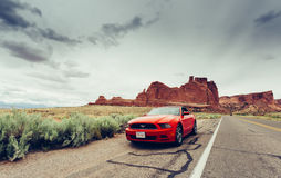Ford-Mustangkabriolett Lizenzfreies Stockfoto