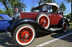 1930 Ford på bilshowen Arkivbilder