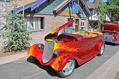 1934 Ford Phaeton. This is a heavily customized 1934 Ford Phaeton with a spectacular paint job, high performance engine, and after market wheels Stock Photos