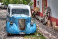 Ford Pickup Truck outside of a village hosue stock photos