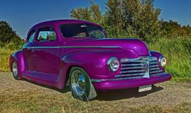 Ford Plymouth Club Coupe 1942 in HDR Royalty-vrije Stock Foto