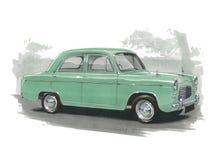Ford Popular 100E. Illustration of a Ford Popular 100E stock illustration