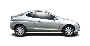 Ford Puma side view isolated on white Royalty Free Stock Photography