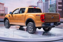 2019 Ford Ranger FX4, NAIAS Stock Foto's