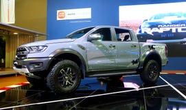 Ford Ranger Raptor indicou durante Kuala Lumpur International Motor Show 2018 KLIMS fotografia de stock